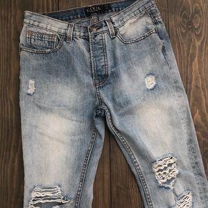 Men's Deconstructed Jeans